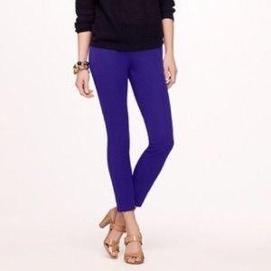 J Crew Minnie Pants size 0 Purple Stretch